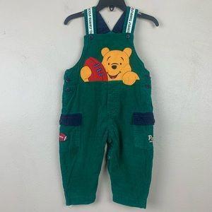 Winnie The pooh Overalls Corduroy Vintage Boys